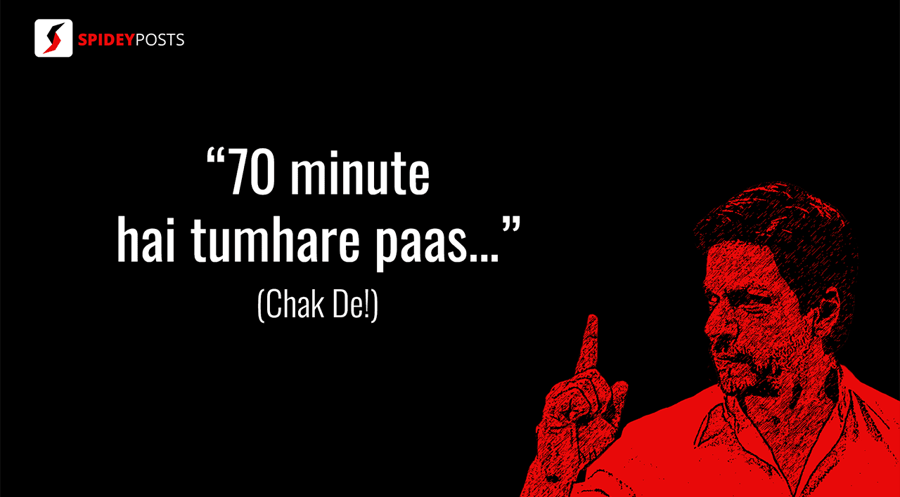 Chak De - 10 best dialogues of Shah Rukh Khan