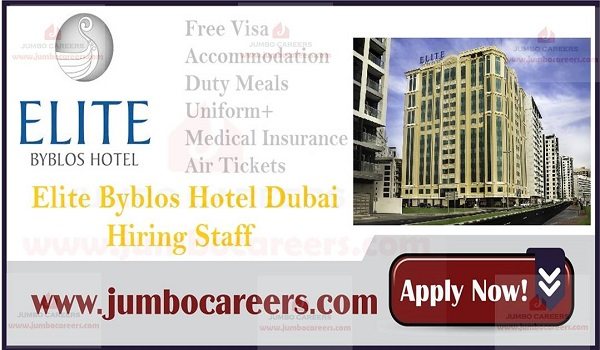 Five Star Hotel Jobs Dubai UAE, Hotel jobs in UAE,