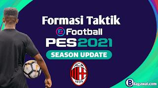 Formasi Terbaik AC Milan di PES 2021