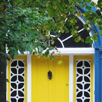 Images of Ireland: Yellow and blue door in Clonakilty in West Cork