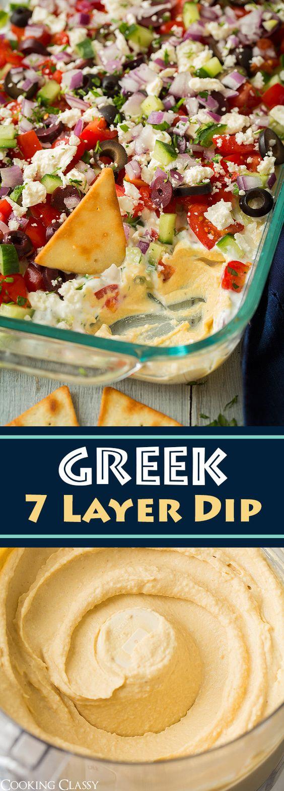 Greek Seven Layer Dip