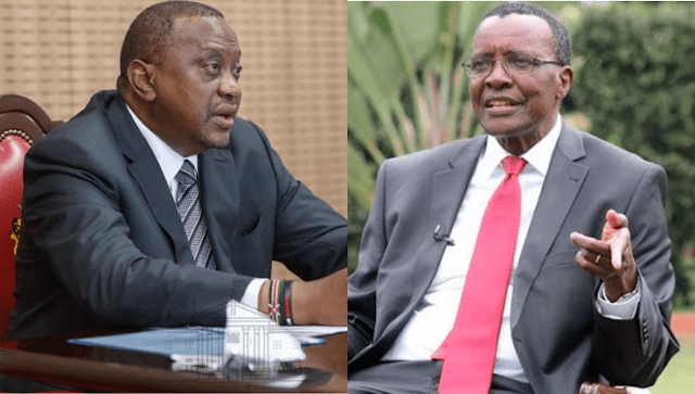 EX-Chief Justice David Maraga and President Uhuru Kenyatta