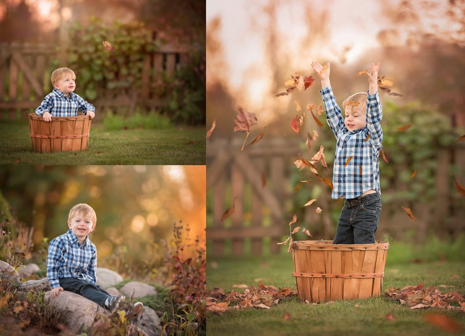 Outdoor Fall photos of a little boy and family DeKalb, Geneva, Sycamore, IL