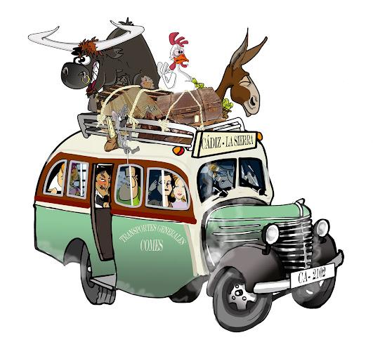 dibujo de autobus comes antiguo