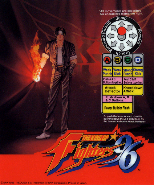 Japan The King Of Fighters 96 Graphical Manual Book
