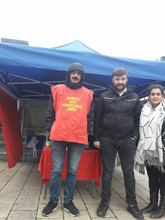 Dayanışma açlık grevcilerini ziyaret edelim.