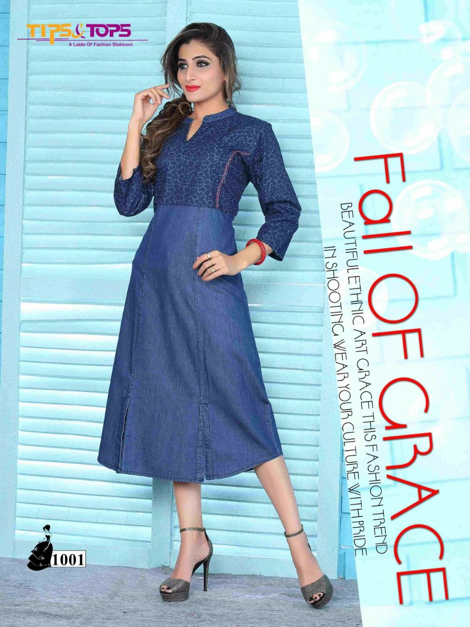 Candid – Latest Features Discharge Printed Kurti