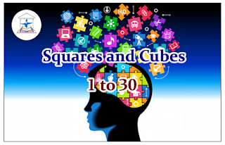 Squares and Cubes of 1 to 30