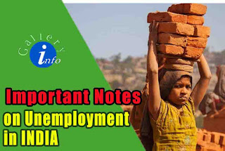 Important notes on Unemployment in India