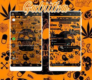Halloween & Skull Theme For YOWhatsApp & Fouad WhatsApp By Gabiitha