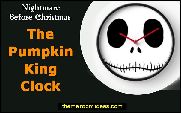 The Pumpkin King Clock Halloween Nightmare Before Christmas decor