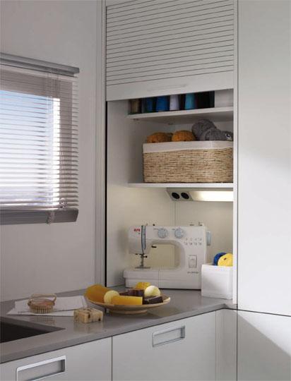 Un lavadero bien organizado cocinas con estilo - Persianas de cocina ...