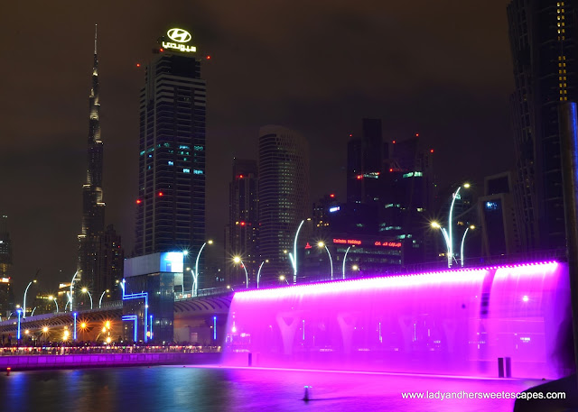 Dubai Canal Waterfall