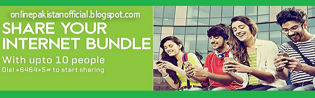 Share Internet with Zong Data Share Bundle