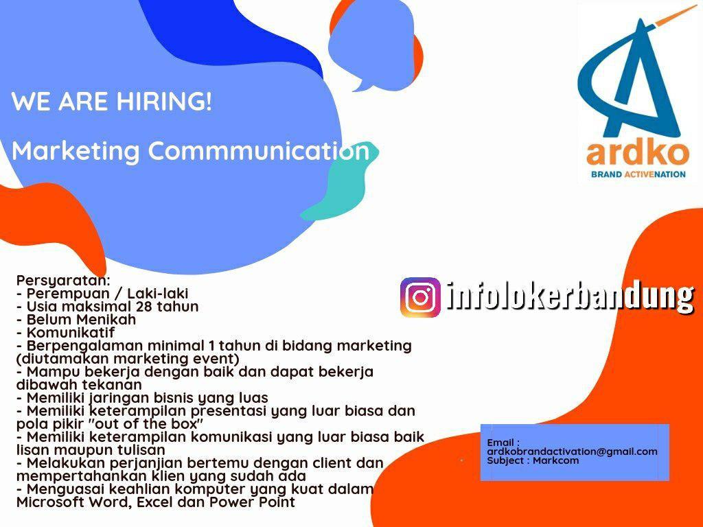 Lowongan Kerja Ardko Brand Active Nation Bandung September 2019