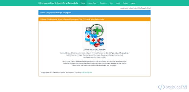 Aplikasi Pemesanan Obat Berbasis Web (PHP)