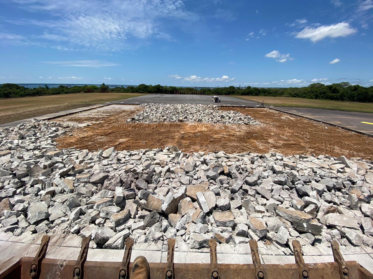 Diretor da Infraero inspeciona novas cabeceiras da pista do aeroporto de Santarém