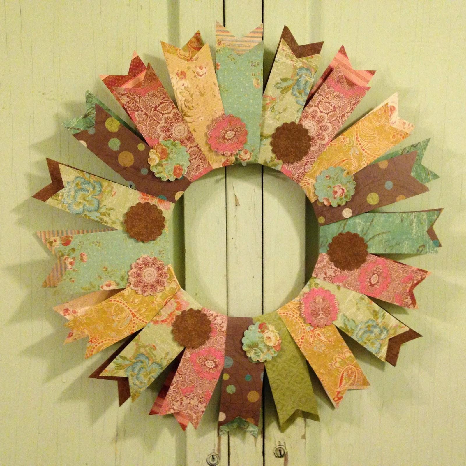 Pollyanna Reinvents Easy Paper Summer Wreath