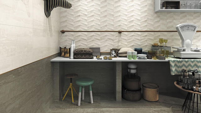 Tiles design images of Jacquard series -A style of weaving