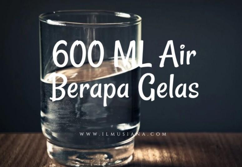 600 ml air berapa gelas