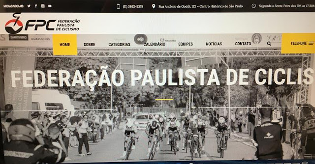 Novo site da Federação Paulista de Ciclismo (FPCiclismo)