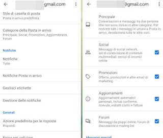Categorie Gmail