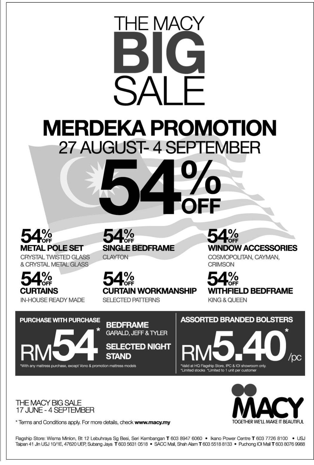 49189a076 The Macy Big Sale Merdeka Promotion (27 August - 4 September)
