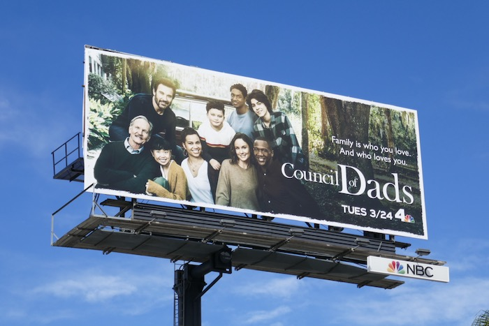 Council of Dads series premiere billboard