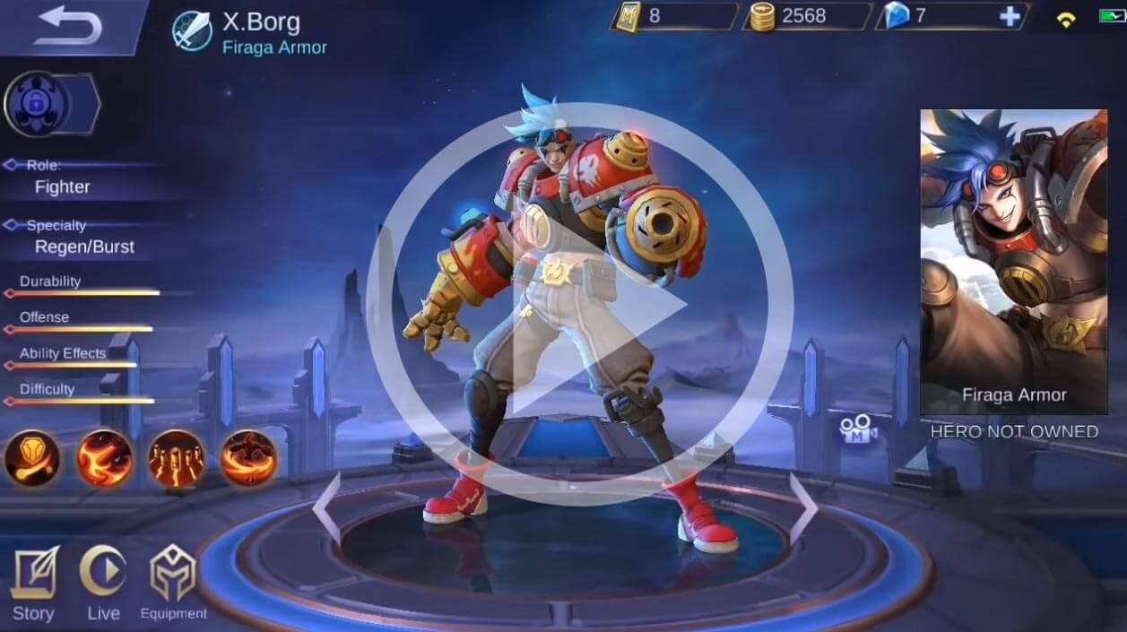 x.borg new mobile legends cyborg hero – price, skills and