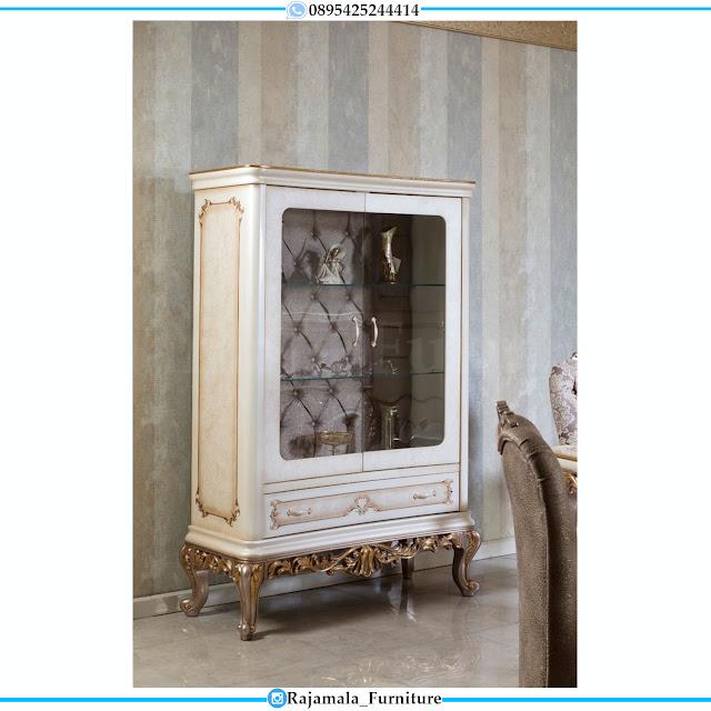 Jual Lemari Hias Kaca Mewah Ukiran Klasik Luxury Furniture Jepara RM-0477