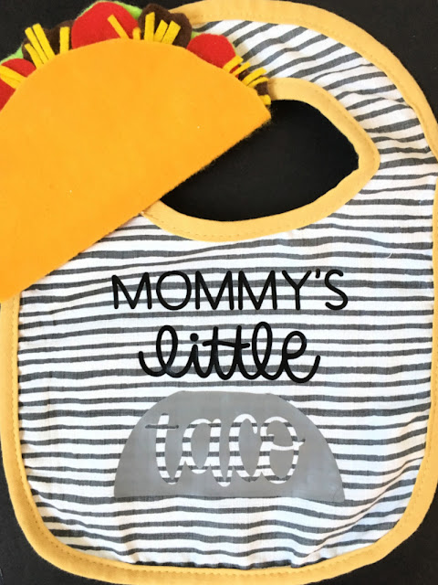 How to Contour Images with Cricut to make a Taco themed Baby gift