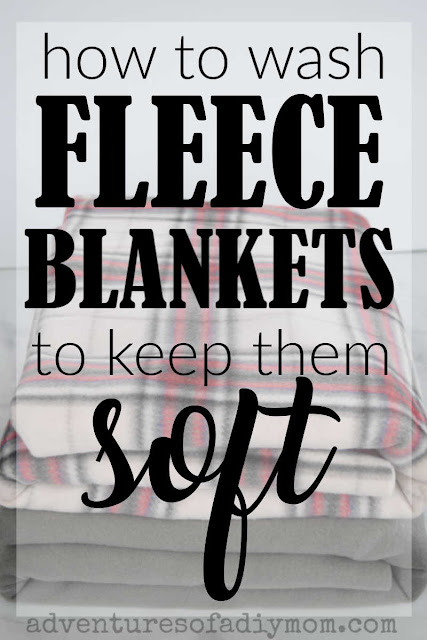 image of fleece blankets with the overlaying text: how to wash fleece blanket to keep them soft