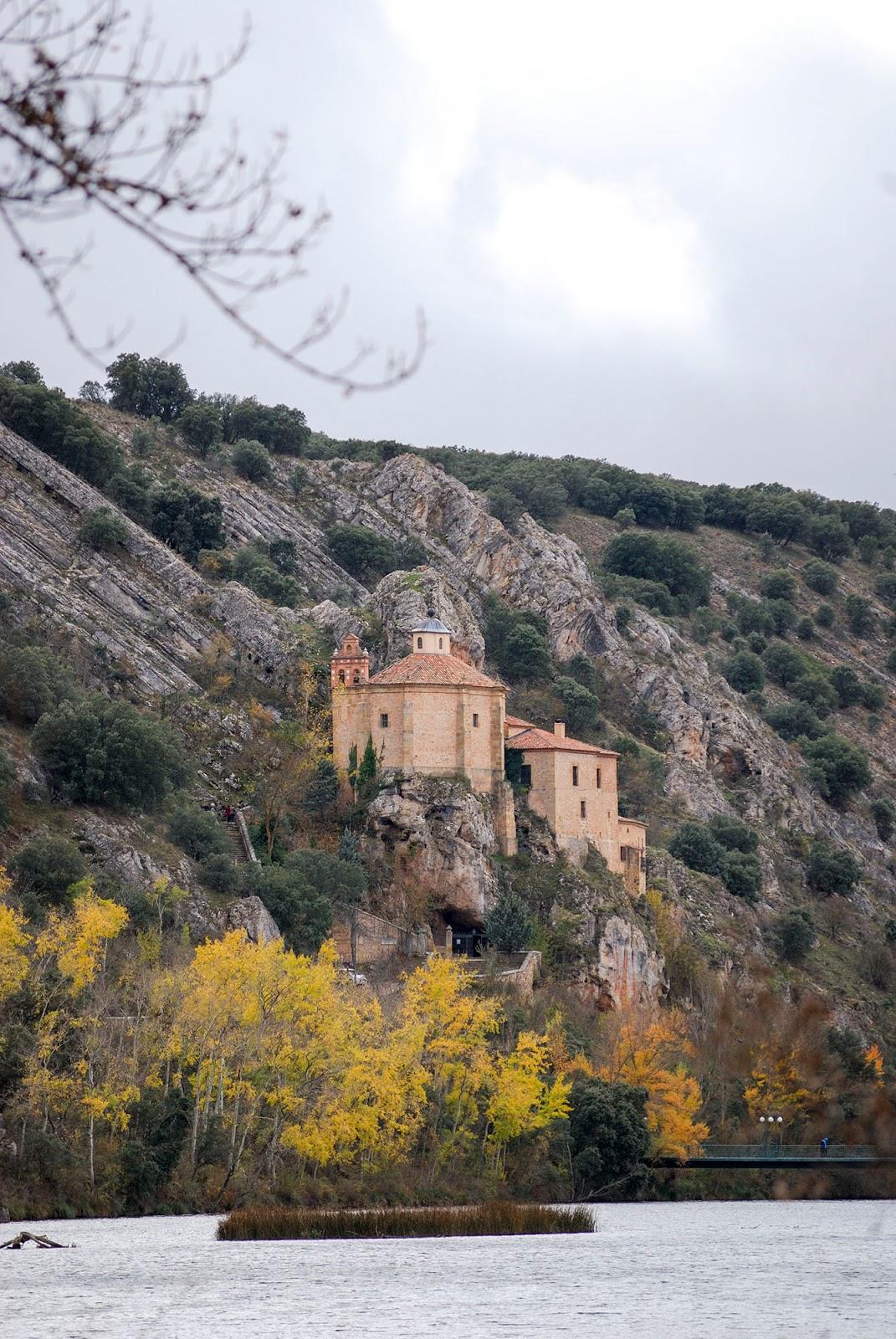 soria spain chapel san saturio ermita autumn otoño fall foliage landscape