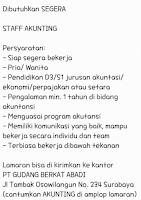 Karir Surabaya di PT. Gudang Berkat Abadi Januari 2021