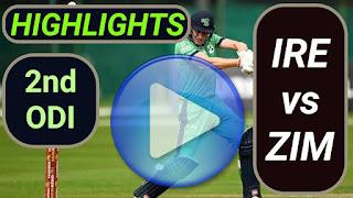 IRE vs ZIM 2nd ODI 2021