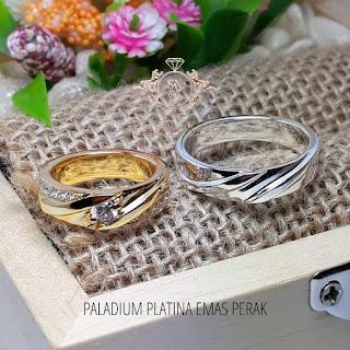 cincin emas perak paladium emas