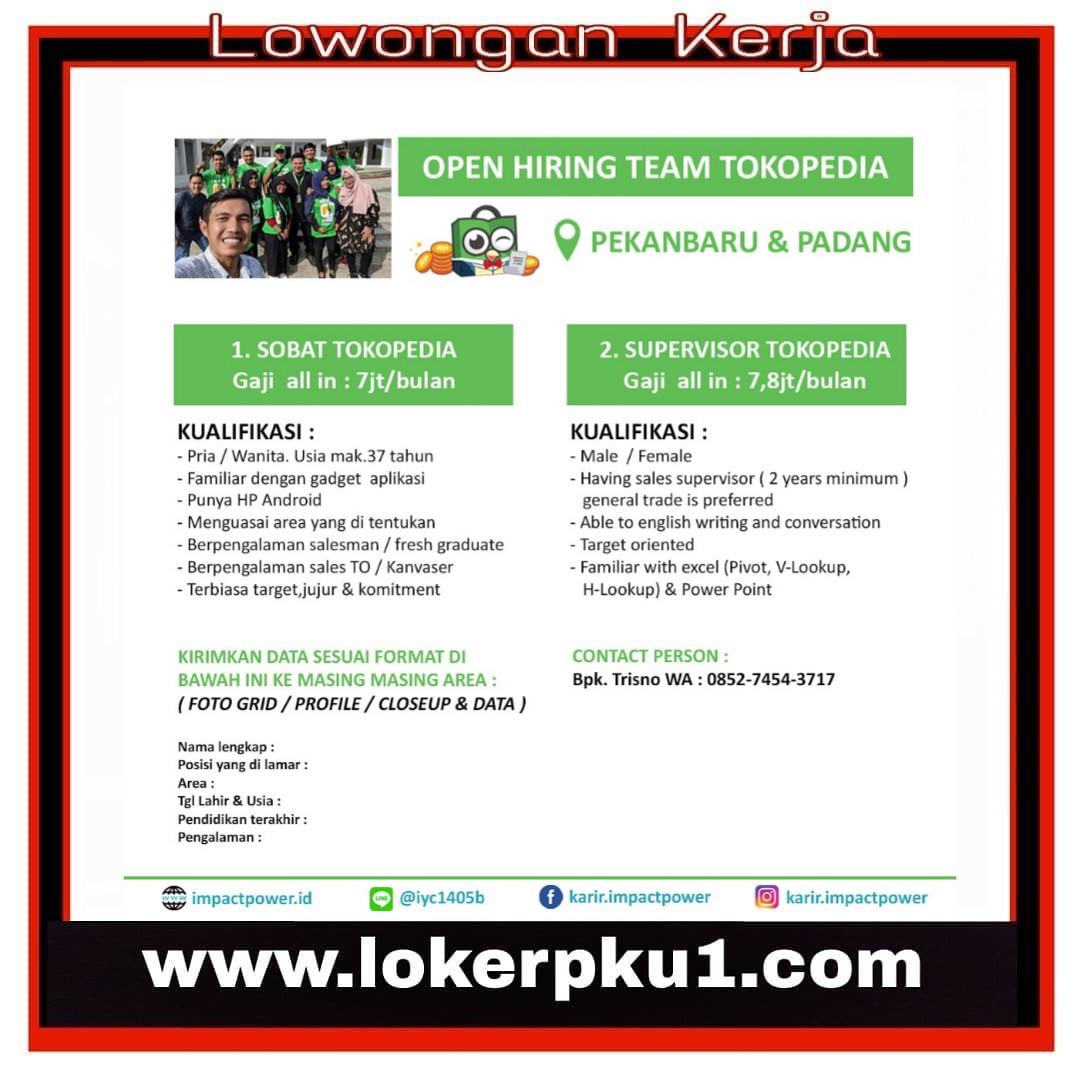 Lowongan Kerja Tokopedia Padang