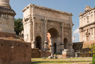 The triumphal Arch of Septimius Severus