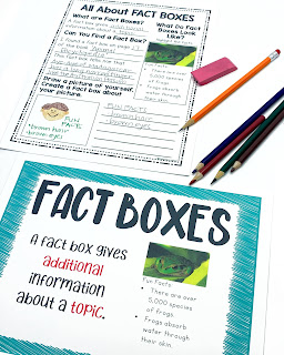 fact boxes example of text features