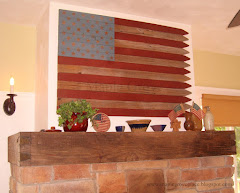 DIY American Flag Wall Hanging