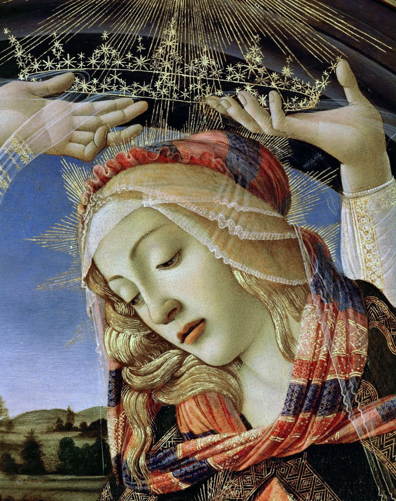Sandro  otticelli  Madonna of the Magnificat detail