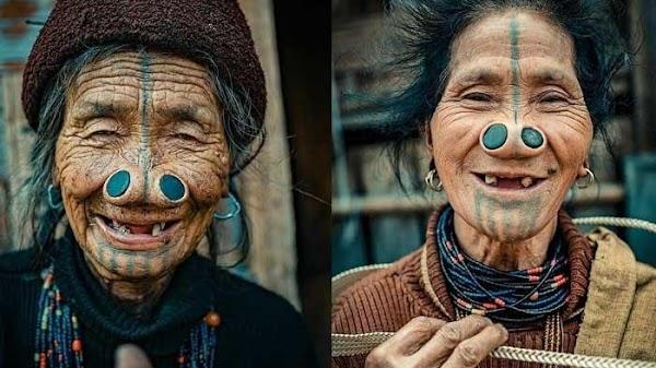 Demi Melindungi Diri, Wanita Suku Apatani Rela Menyumbat Hidung Dengan Kayu