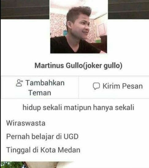 Martinus Gulo tersangka penghina Nabi Muhammad