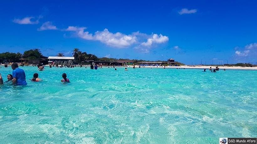 Mar parece uma piscina gigante em Sorobon - Praias de Bonaire: 24 dicas imperdíveis
