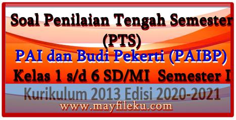 Download Soal PTS PAI dan BP Kelas 1,2,3,4,5,6 SD/MI Semester 1 2020-2021