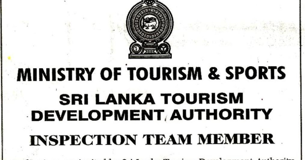 Vacancies at Sri Lanka Tourism Development Authority