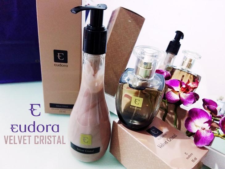 Velvet Cristal Eudora Perfume e Hidratante