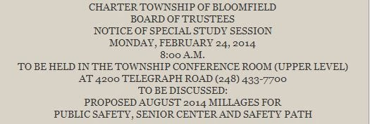 City of Bloomfield Hills: Bloomfield Township Board of ...