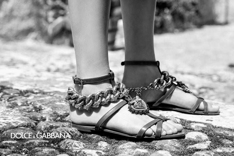 Dolce & Gabbana highlights sandals for spring-summer 2020 campaign