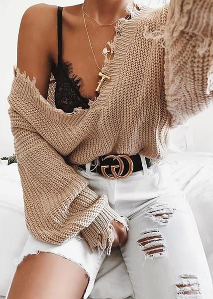 outfits sueter camel